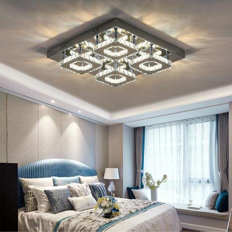 48W LED Ceiling Light Crystal Chandelier Pendant Lamp