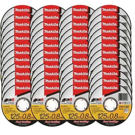 48X Makita B-45733 Fast Cutting Thin Metal Grinder Disc 125mm x 0.8mm x 22.23mm