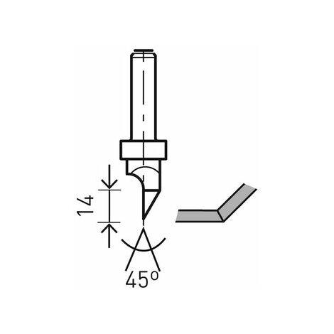 491000 Festool Fresa para placas de pladur HW S8 D12,5/45°