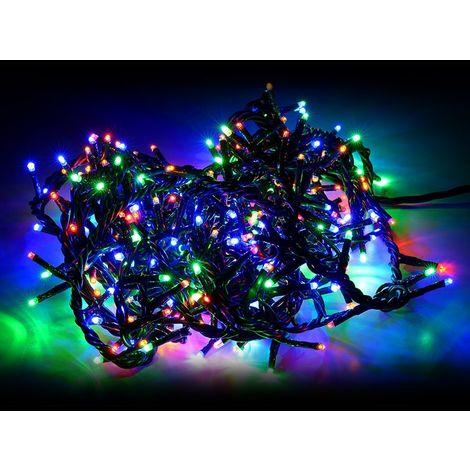 "main image of ""499623 Mini-luces navideñas multicolores 240 led 8 juegos de luces 11.56 metros"""