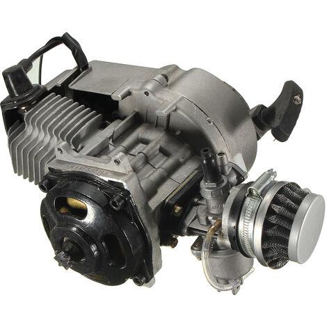 49cc Minimoto Bike Quad Engine with Carburetor Pullstart Bell Clutch Air Filter 28x23x15cm