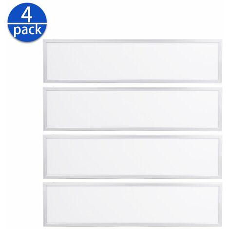 4×Anten 60W Panneau Dalle LED 30×120CM Dalle LED Lumineuse Plafond Blanc Neutre 4000-4500K