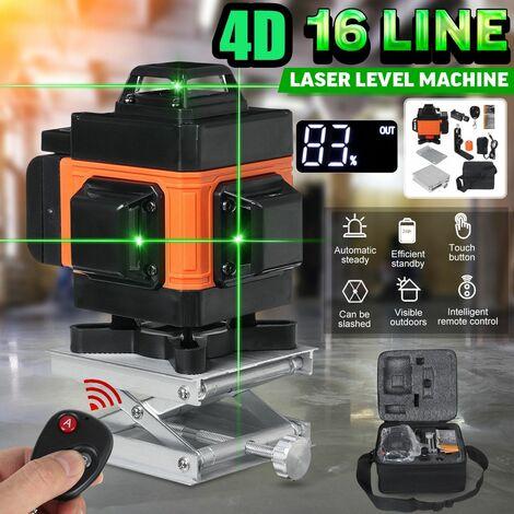 4D 16 lignes lumière verte niveau Laser LCD affichage numérique auto nivellement Laser Machine outils de mesure instrument de construction