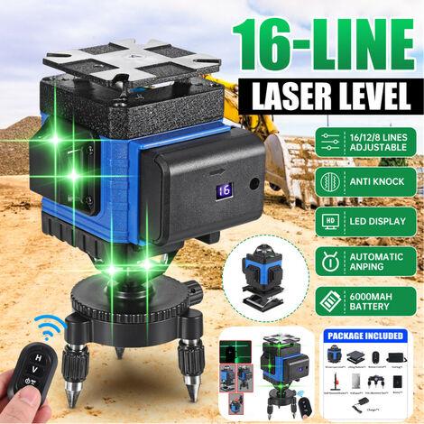 4D 16 lignes niveau Laser lumière verte 360 ° mesure rotative avec telecommande
