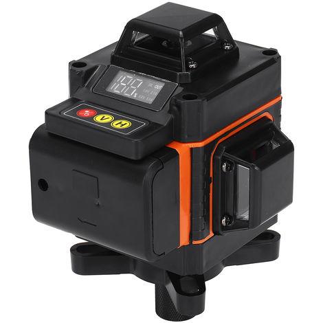 4D 16 líneas Nivel de luz láser verde Medición automática Rotación cruzada 360 grados Alta precisión