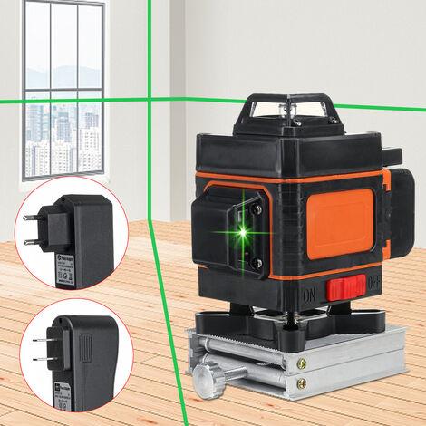 4D Niveau laser à lumière verte LD 16 lignes en croix outil de mesure 360 °