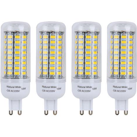 4er G9 10W Neutralweiß LED Lampe, Halogenlampe, Leuchtmittel, Birne