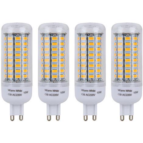 4er G9 10W Warmweiß LED Lampe, Halogenlampe, Leuchtmittel, Birne, Warmweiß
