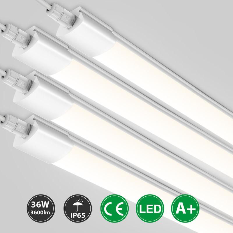 4er Oeegoo Led Feuchtraumleuchte 150cm, 36W 3600Lm Led Röhre Werkstattlampe, IP65 Wasserdicht Led Deckenleuchte Leuchtstoffröhre Wannenleuchte für