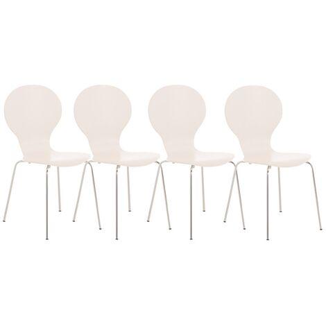 4er Set Besucherstuhl Diego Wartezimmer Stuhl schwarz