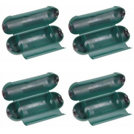 4er Set Garten Steckdosen Safe Schutzbox für Kabel und Stecker