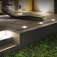 4er Set Grafner Solar LED Bodenstrahler eckig Bodenleuchte Einbaustrahler
