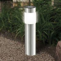 4er Set LED-Solarleuchte, Edelstahl, 280mm EEK A+ [Spektrum A++ bis E]