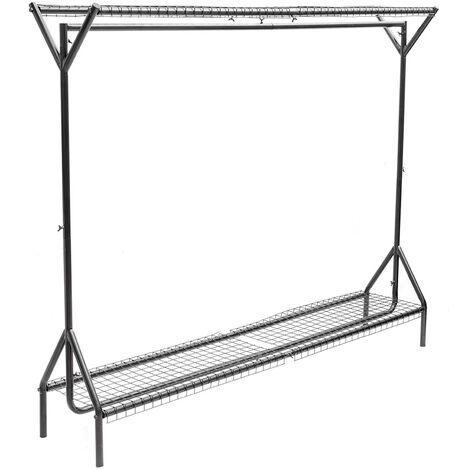 4ft Garment Clothes Rail Metal Rack