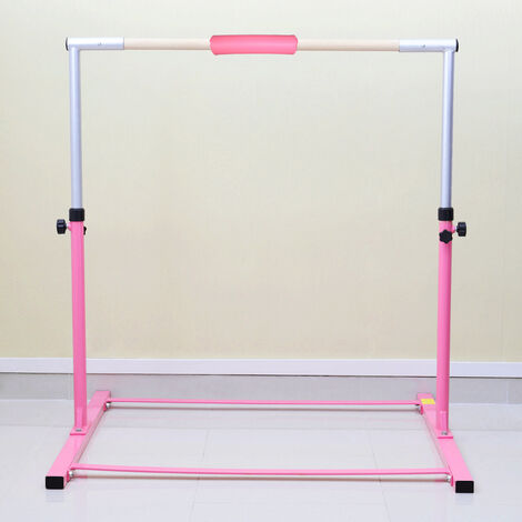 4FT Gymnastics Gymnasts 1-4 Levels Junior Training Bar Kids Horizontal High Bars, Pink