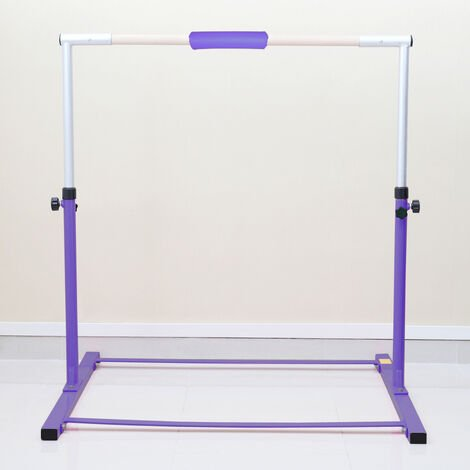 4FT Gymnastics Gymnasts 1-4 Levels Junior Training Bar Kids Horizontal High Bars, Purple