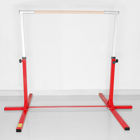 4FT Gymnastics Gymnasts 1-4 Levels Junior Training Bar Kids Horizontal High Bars, Red