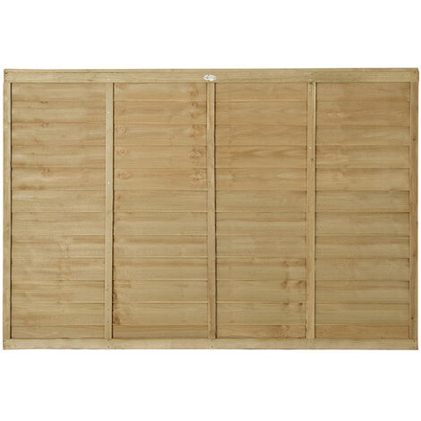 4ft High Forest Pressure Treated Lap Fence Panel