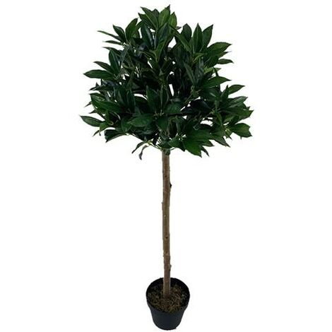 4ft Laurel Green Artificial Tree Solid Wood Fabric Silk Flower