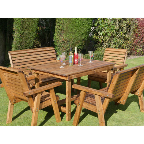 4ft Table + 2 Chairs + 2 Benches Flatpack