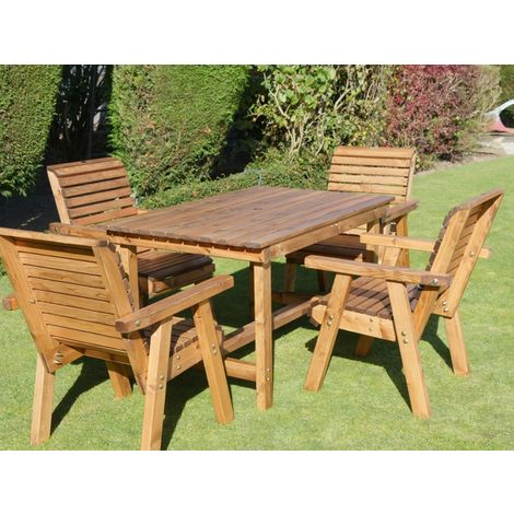 4ft Table + 4 Chairs Flatpack