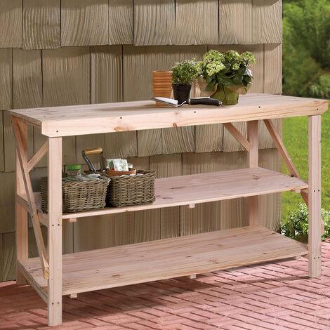 4ft Wood Potting Table Garden Flower Plant Workbench