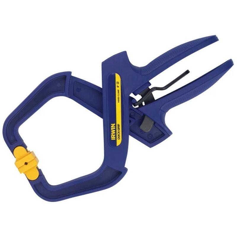 Image of Irwinâ ® Quick-gripâ ® - Irwin Quick Grip 100mm 4 Inch Handi Clamps 20kg Pressure Non Marking Q/G59400