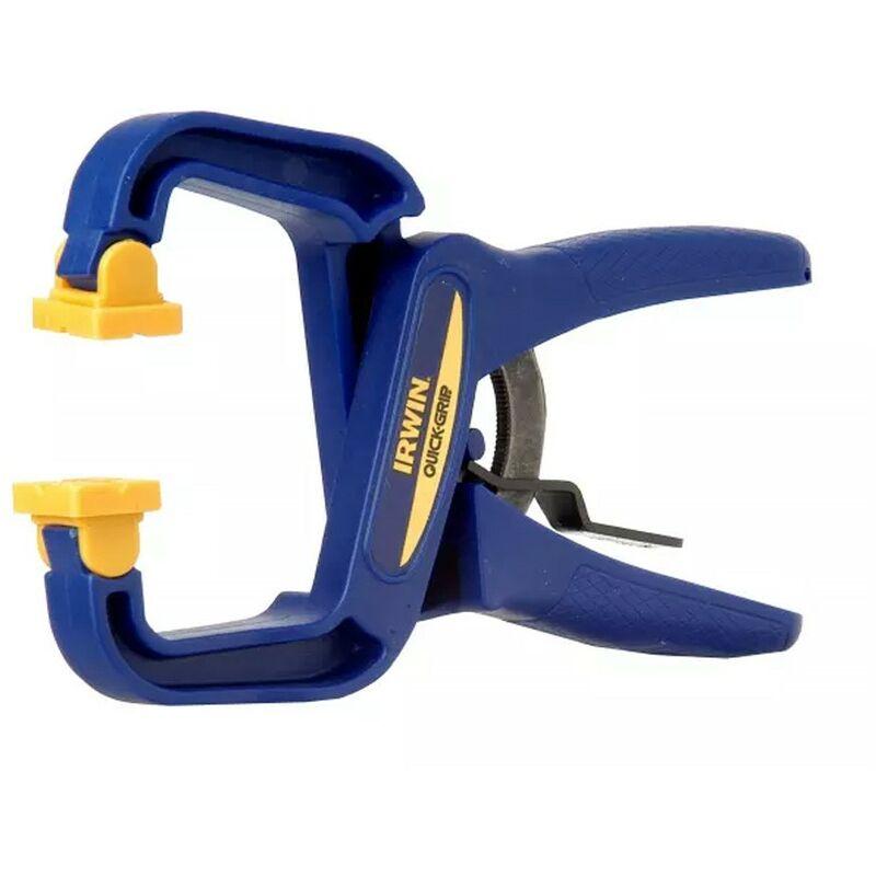 Image of Irwinâ ® Quick-gripâ ® - Irwin Quick Grip 50mm 2 Inch Handi Clamps 20kg Pressure Non Marking Q/G59200