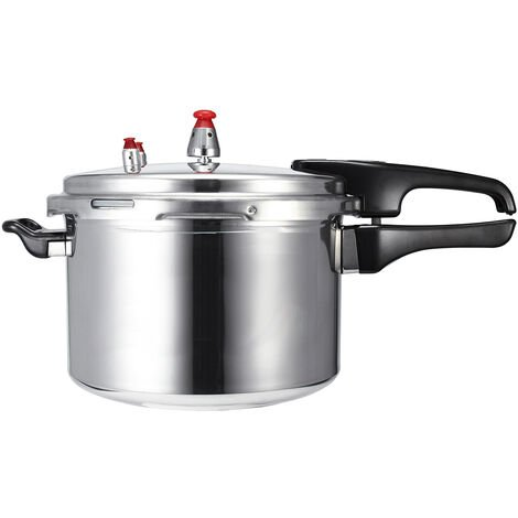 4L Aluminum Alloy Pressure Cooker Rust-Proof Kitchen Tool Easy Clean for 2-3 People