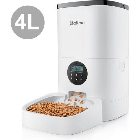 """main image of """"4L Balimo Distributeur Automatique de Nourriture pour Chat et Chien Distributeur de Croquette Gamelle 4 Repas par Jour Avec LED �cran"""""""