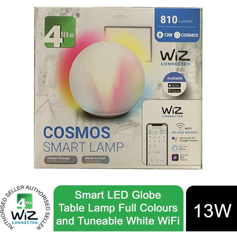 Image of WiZ Connected Colour Changing, Tuneable White & Dimmable Smart Glass Globe - 4lite