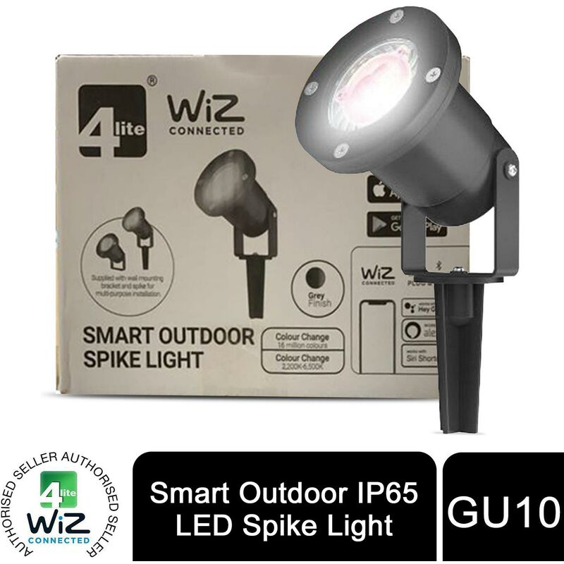 Image of Wiz Connected Energy Class A+ Outdoor Spike Light 5W Tunable White - 4lite