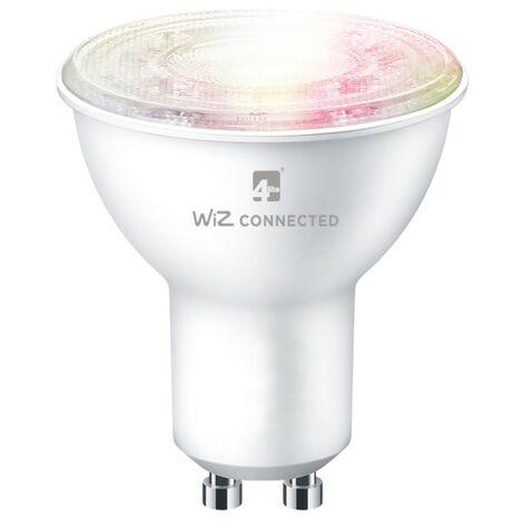 4Lite WiZ Connected SMART LED WiFi & Bluetooth GU10 Bulb White & Colours - 4L1-8043