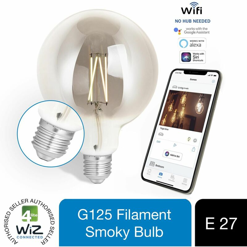 Image of WiZ Connected G125 Filament Bulb Smoky E27 WiFi, 1 Pack - 4lite