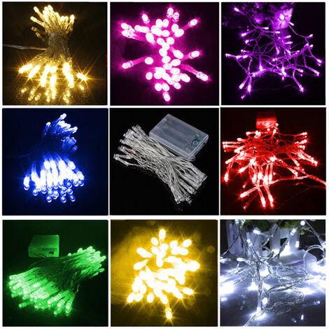 4M 40LED Baterías alimentadas Navidad Boda Fiesta Cadena Luz de hadas Intermitente / Lámpara fija Bombilla Decoración Navidad Vacaciones al aire libre (Verde, 4M 40LED) Navidad