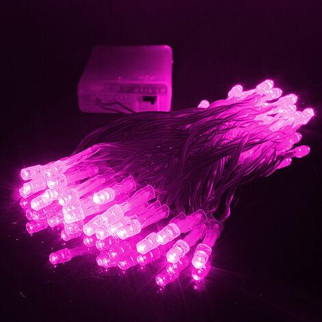 4M 40LED Batteries Alimenté No?l Fête De Mariage Cha?ne Fée Lumière Clignotant / Lampe Fixe Ampoule Décoration No?l Vacances En Plein Air (Violet, 4M 40LED) No?l