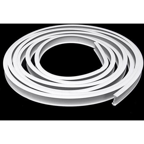 4m en plastique blanc Pvc rideau piste rail rail mur plafond monté crochets de fixation # serrage latéral (serrage latéral)