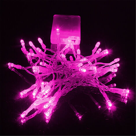 4m Mini 40 LED Christmas Party de mariage String Fairy Light Lampe Batterie (rose, 4M 40LED) No?l