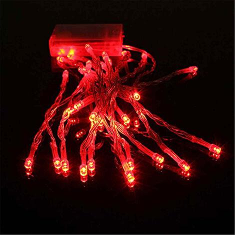 4m Mini 40 LED Christmas Party de mariage String Fairy Light Lampe Batterie (rouge, 4M 40LED) No?l