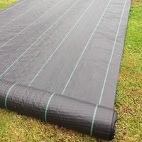 4m x 25m Yuzet 100gsm Ground Cover Weed Control Fabric Driveway Membrane Mulch