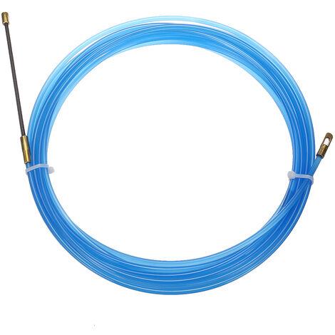 4mm électricien Filetage Dispositif Cable Fil Poussoir Extracteur Conduit Serpent Cable Rodder Poisson Bande Fil Guide (Bleu, 25 m)