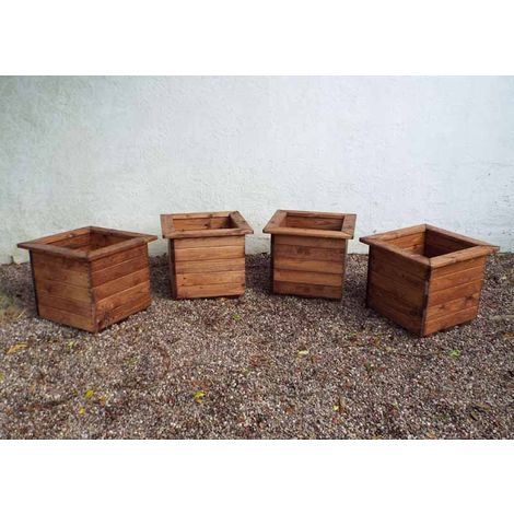 4pc Large Square Planter Set - Fully Assembled