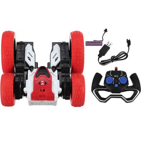 4Pcs 2.4GHZ Rechargeable Kid Constellation Finger Skateboard Jouet Mini Fingertips Skateboard (Rouge)