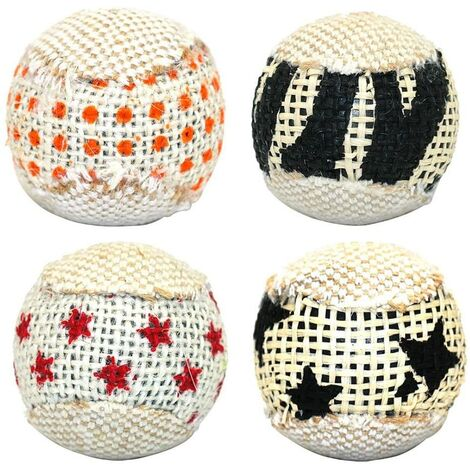 4pcs 5CM chat jouet chaton chat gratter Ball Play Scratch Toy