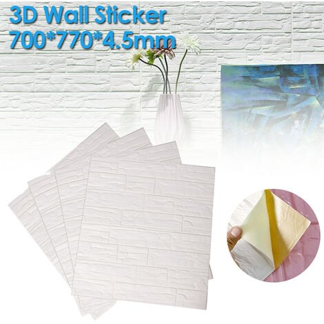 "main image of ""4PCS 70*70CM 3D Brick Pattern Wall Panels Stickers XPE Foam Self-Adhesive Wallpaper DIY"""