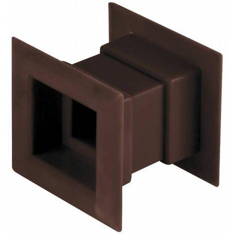 4pcs mini grille d'aération carré porte grille de ventilation interne couvercle brun couleur