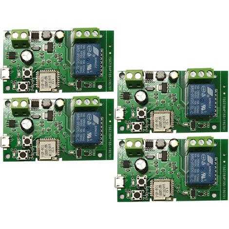 4PCS, Modulo de rele inalambrico con interruptor Wifi, DC5V 12V 24V 32V