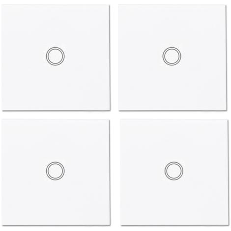 4Pcs Mur De Luxe Tactile Sans Fil Post-It 433Mhz Telecommande Rf, Sonoff T433 86 Type
