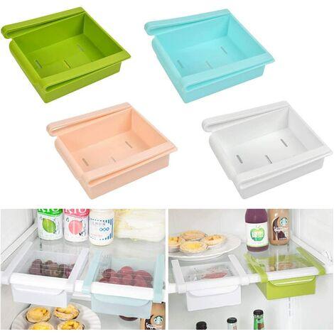 4pcs organisateur de tiroir coulissant multicolore idéal pour réfrigérateur, cuisine, garde-manger, réfrigérateur