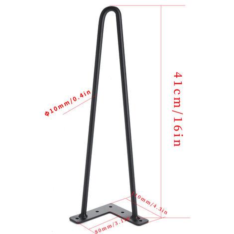4PCS patas de mesa de metal 41cm